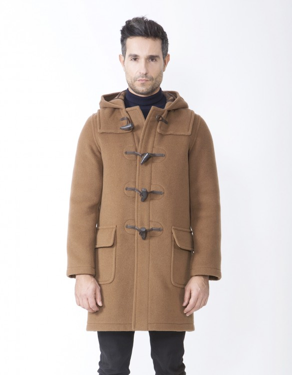 Camel-Mens-Duffle-Coat-Martin-SLM-Long-Front