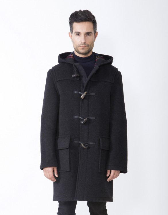 Charcoal-Mens-Duffle-Coat-Martin-Front