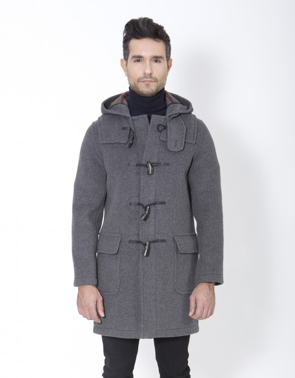Grey-Mens-Duffle-Coat-Martin-SLM-Front