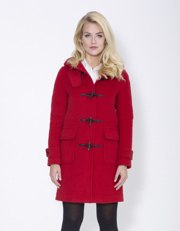 Red RS Ladies Duffle Coat Erica Front