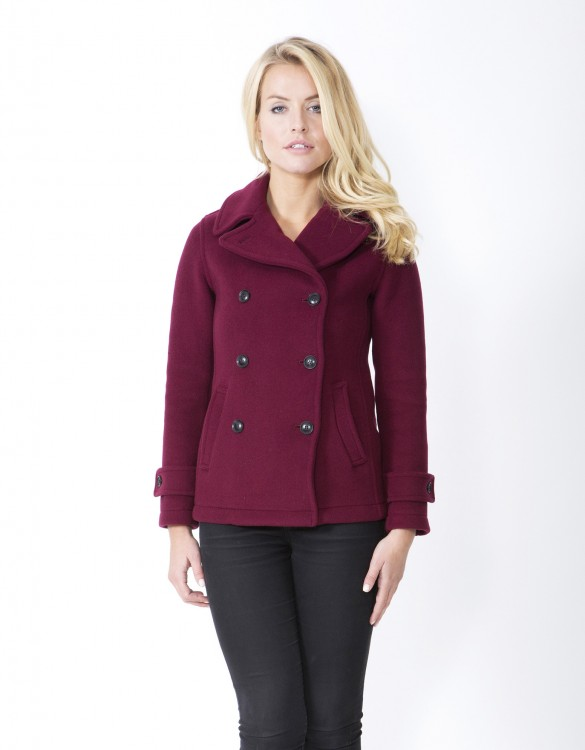 Wine-Ladies-Peacoat-Lisa-Welt-Front
