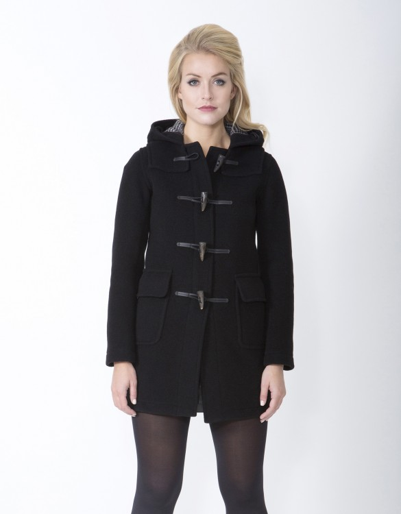 Black-Ladies-Duffle-Coat-Martina-Long-Front