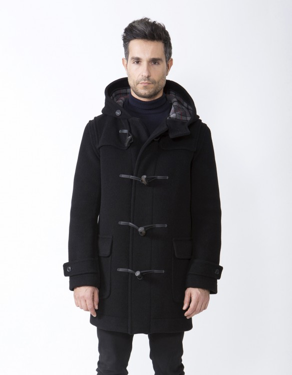 Black-Mens-Duffle-Coat-M5-Front