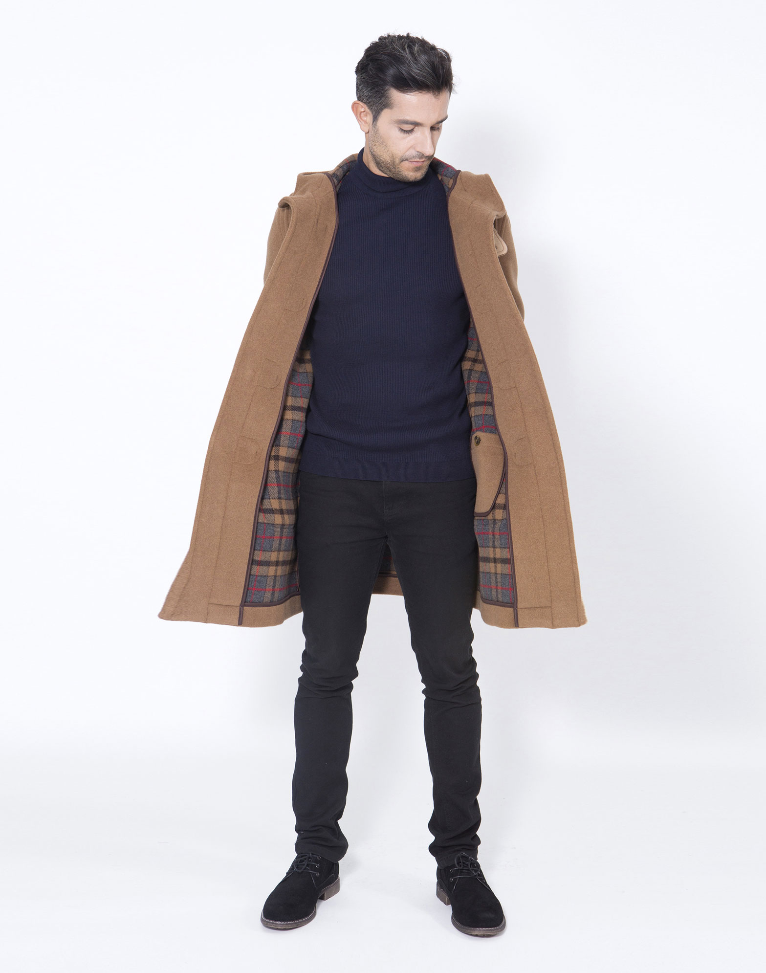 mens london duffle coat jacketin