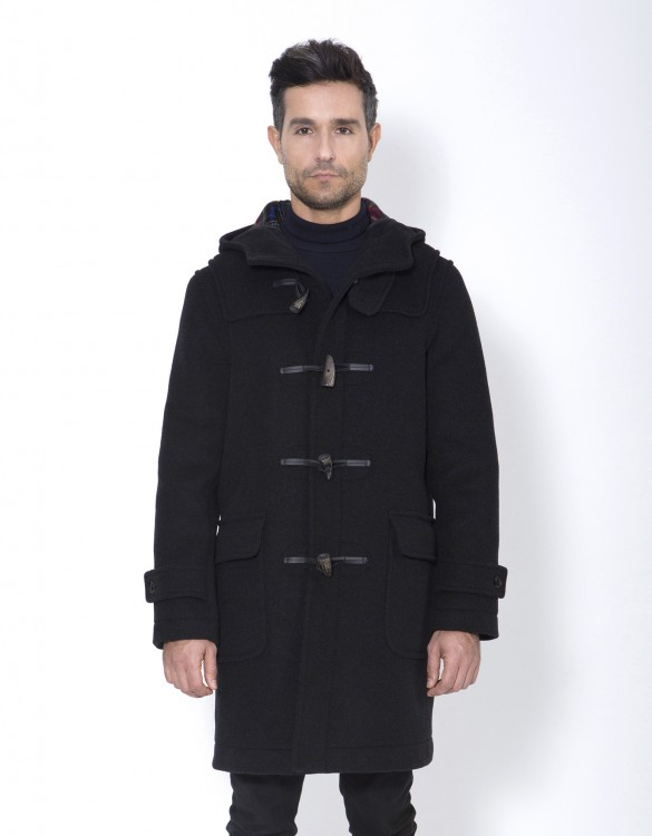 Charcoal-Mens-Duffle-Coat-Mens-Classic-Front