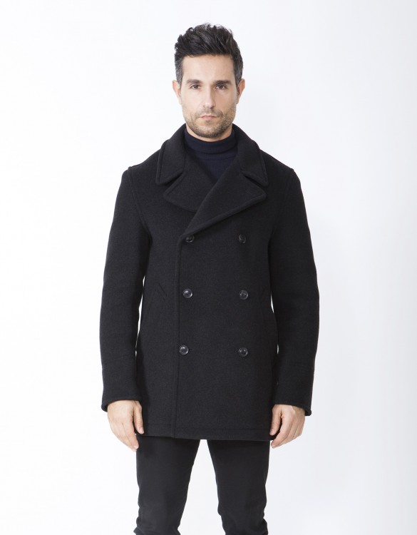 Charcoal-Mens-Peacoat-Scott-Front