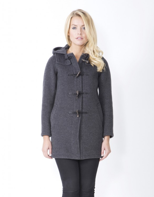 Grey-Ladies-Duffle-Coat-Martina-Long-Welt-Front