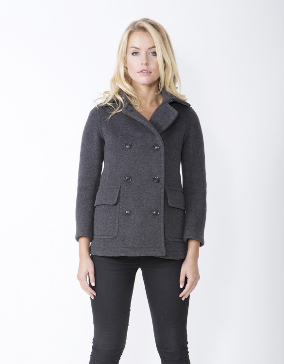 Grey-Ladies-Peacoat-M7-Front