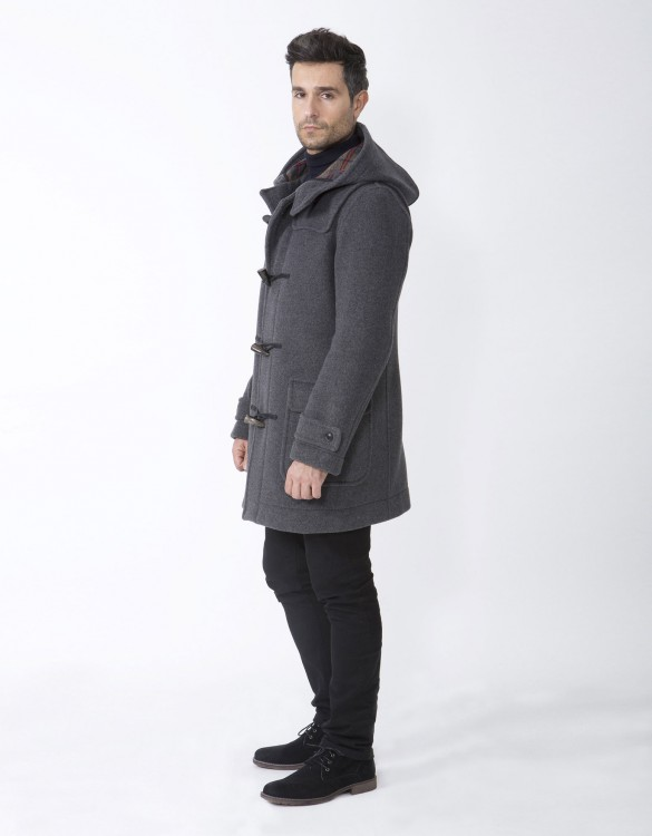 Grey-Mens-Duffle-Coat-M5-Side