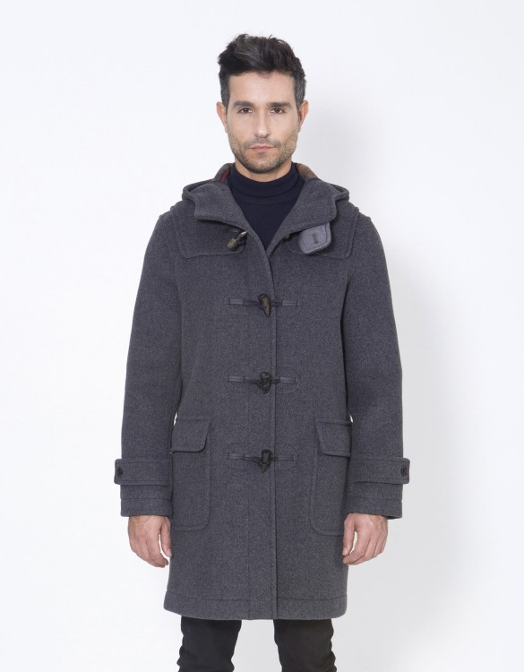 Grey-Mens-Duffle-Coat-Mens-Classic-Front