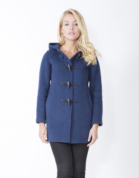 Indigo-Ladies-Duffle-Coat-Martina-Long-Welt-Front