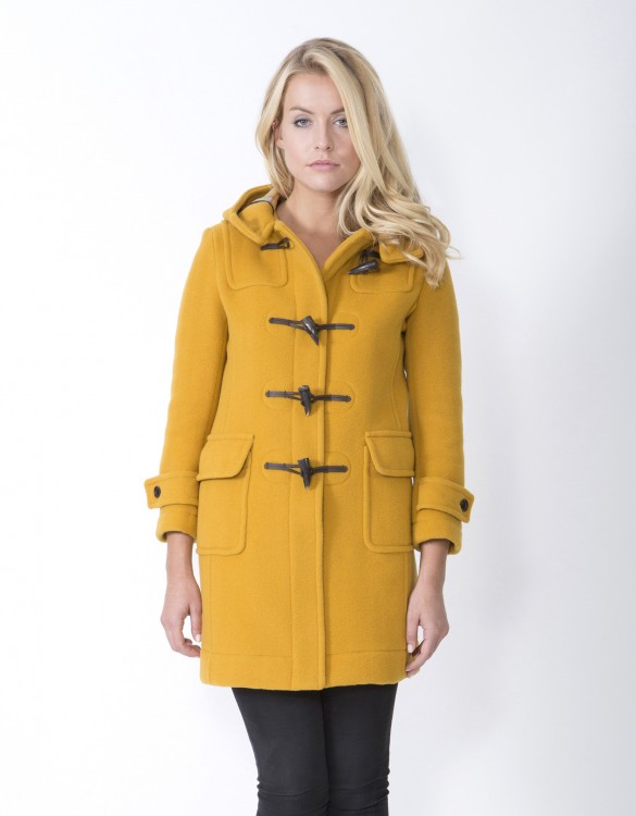Mustard-Ladies-Duffle-Coat-M8-Front