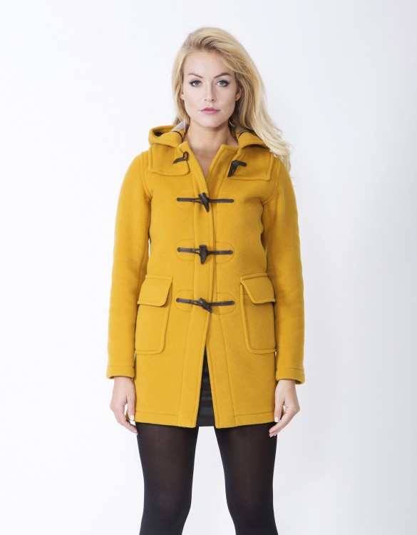 Mustard-Ladies-Duffle-Coat-Martina-Long-Front