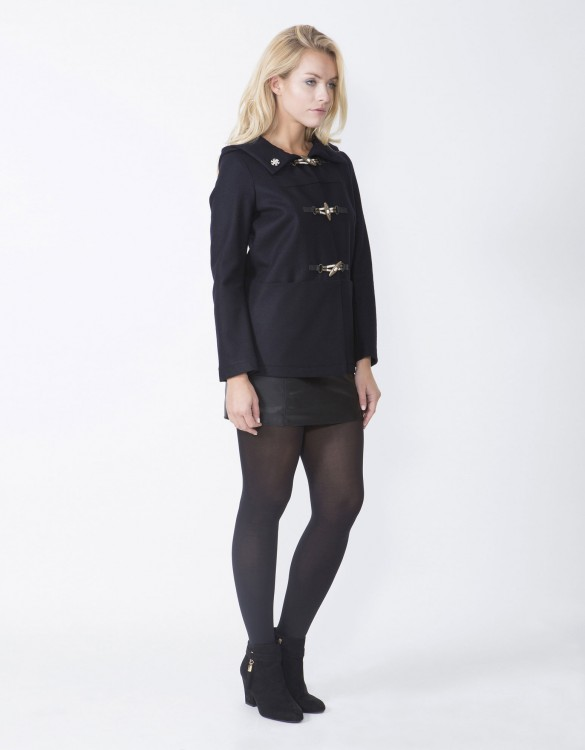 Navy-Ladies-Fashion-Coat-MCD53-Side