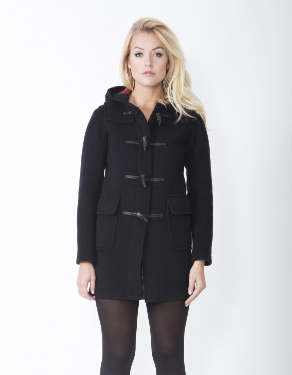 Womens ladies Navy Duffle Coat