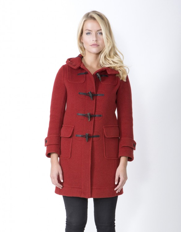 Orange-Ladies-Duffle-Coat-M8-Front