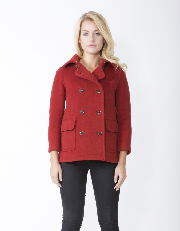 Orange-Ladies-Peacoat-M7-Front
