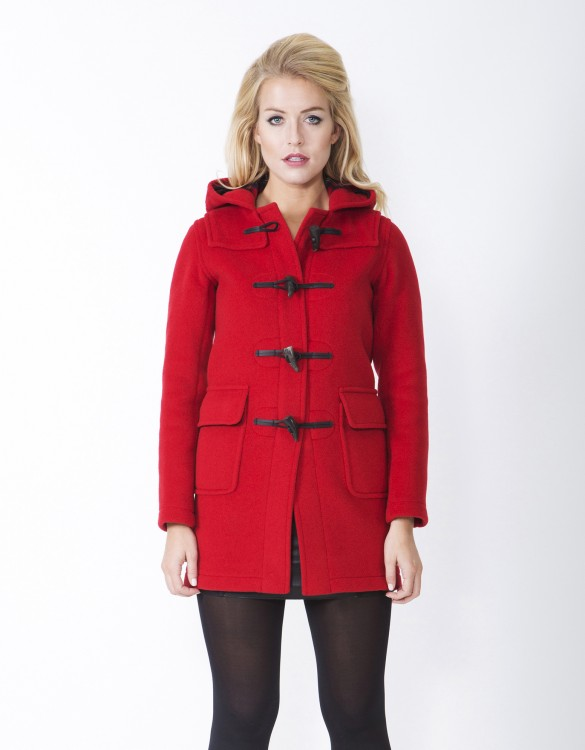 Red-Ladies-Duffle-Coat-Martina-Long-Front