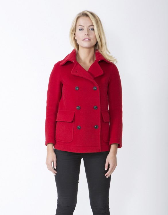 Red-Ladies-Peacoat-M7-Front