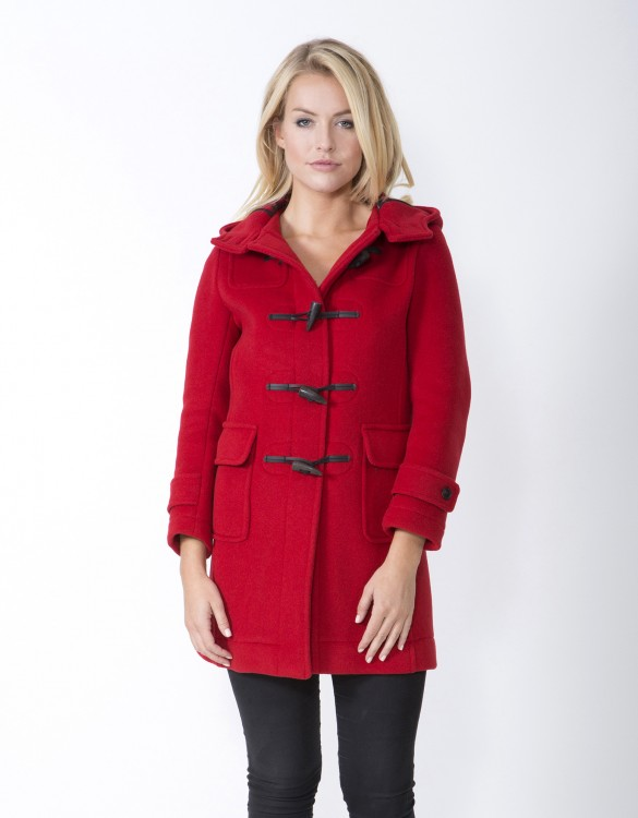 Red-RS-Ladies-Duffle-Coat-M8-Front