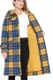 London-Tradition-Southbank-Ladies-Duffle-Coat-Blue-Yellow-I
